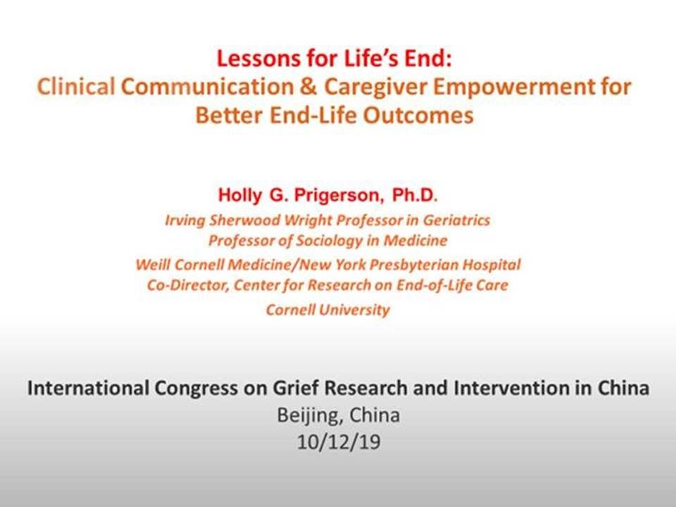 International Conference on Grief Research and Intervention in China